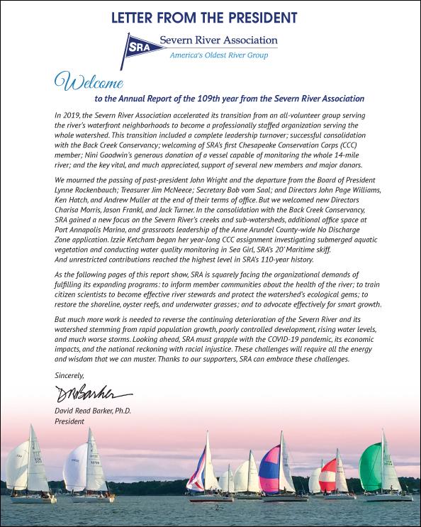 2019 SRA Annual Report - President's Letter