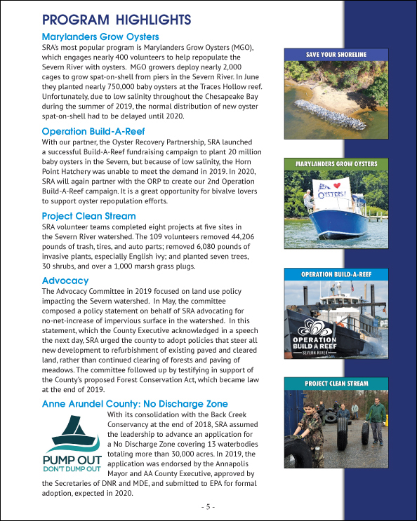 2019 SRA Annual Report - Program Highlights